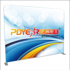 Straight tension fabric display